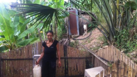 Paulina, happy with water and toilet