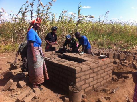 Magret Likwetu, sanitation entrepreneur at work